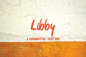 Libby Font - A Handwriting Font Duo