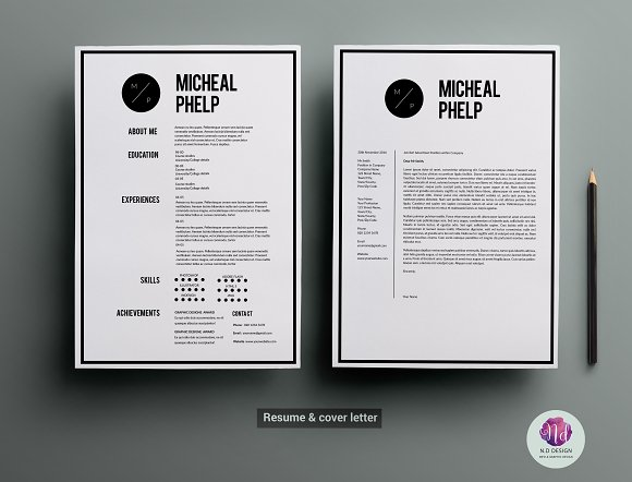 cv template cover letter template resume templates creative market