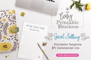 Goal Setting Printables Template