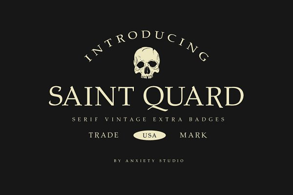 Serif Fonts: Anxiety Studio - Saint Quard Serif Extra Logo