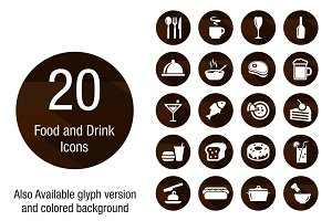 Food & Drink Wooden Background icons