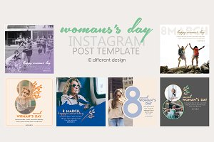 Instagram Post Template Woman's Day