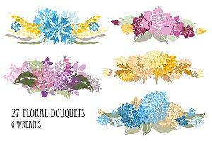 Floral Bouquets Set(3)