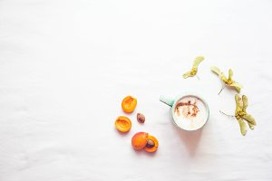 Coffee and apricots