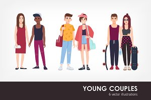 Young couples set