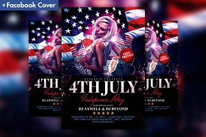 4th of July Flyer Template