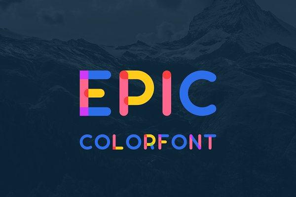 Display Fonts: EpicShop - Epic Colorfont
