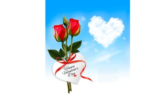 Valentine's background with flowers