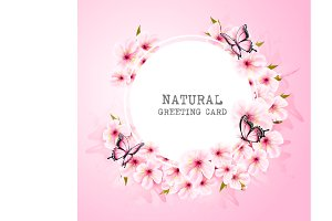 Spring nature background with flower