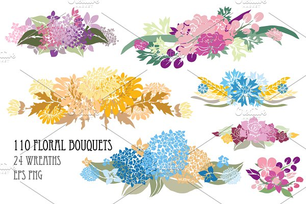 110 Floral Bouquets Collection