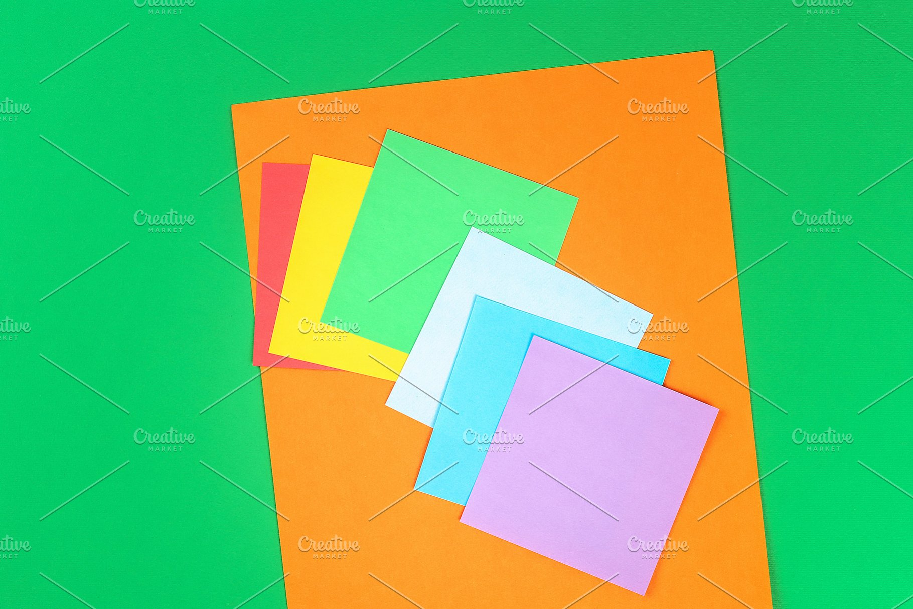 Diy Rainbow Colored Paper Cotton Wo Holiday Photos Creative Market
