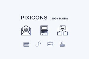 Pixicons 300+ Icons