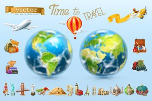 Travel, vacation, landmarks, Earth