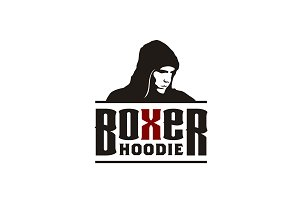 Boxer Hoodie with typography logo