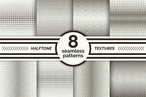 Set of halftone seamless patterns