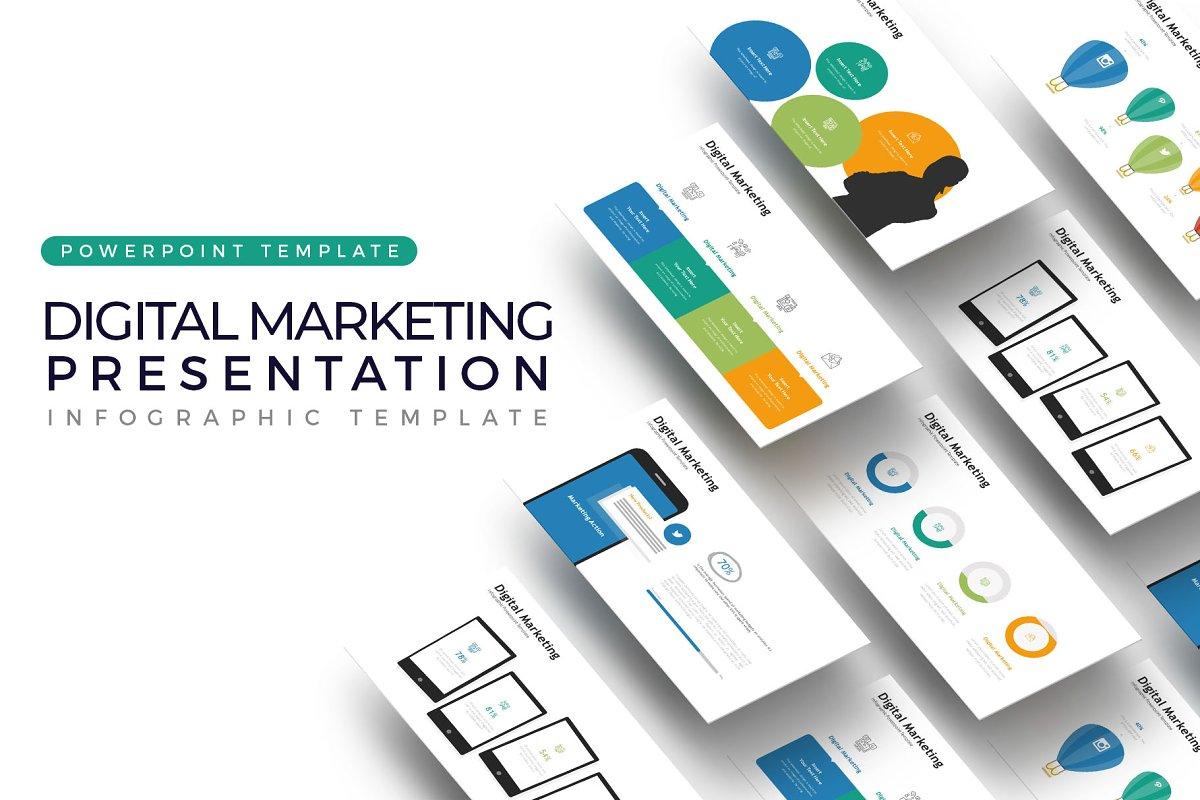 Digital Marketing Presentation Powerpoint Templates