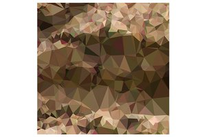 Copper Brown Abstract Low Polygon Ba