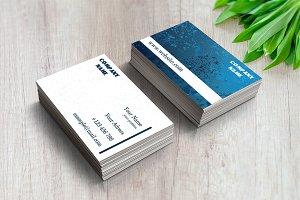 Modern Business Card Water
