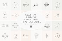 Type Layouts Vol. 6 Text Based Logos by  in Logos