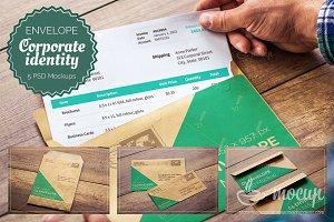 5 PSD Envelope Mockup templates