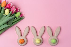 Easter holiday background with