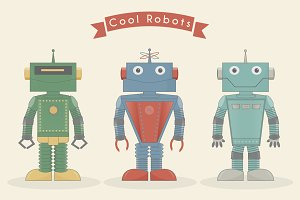 Vintage cool robots
