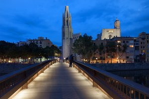 City of Girona by Night in Spain