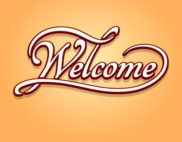 Epic image in welcome sign template