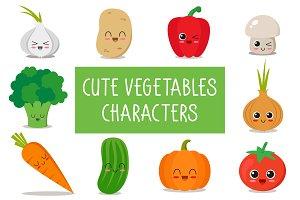 90x cute vegetable characters