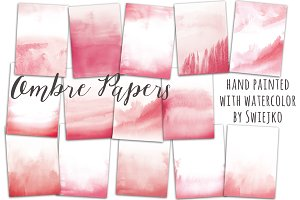 Watercolor ombre background