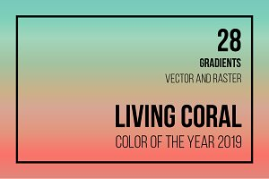 28 gradients with LIVING CORAL