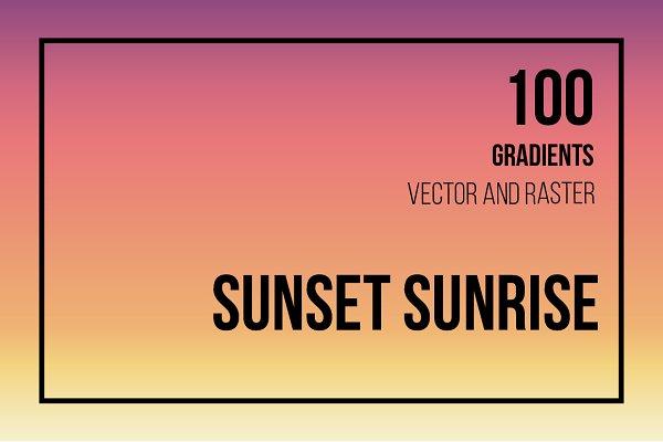 Gradients: Happy Illustrator - 100 SUNSET & SUNRISE GRADIENTS