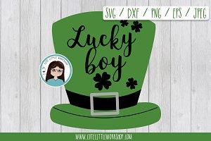 St. Patrick lucky boy SVG DXF