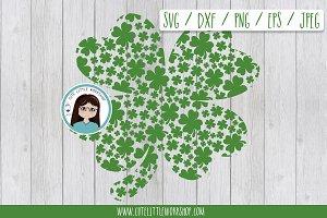 St. Patrick shamrock SVG DXF