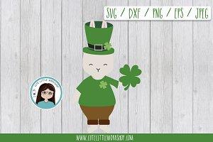 St. Patrick bunny SVG DXF