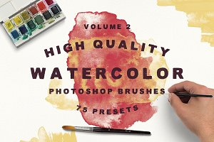 75 Watercolor Brushes - Vol.2