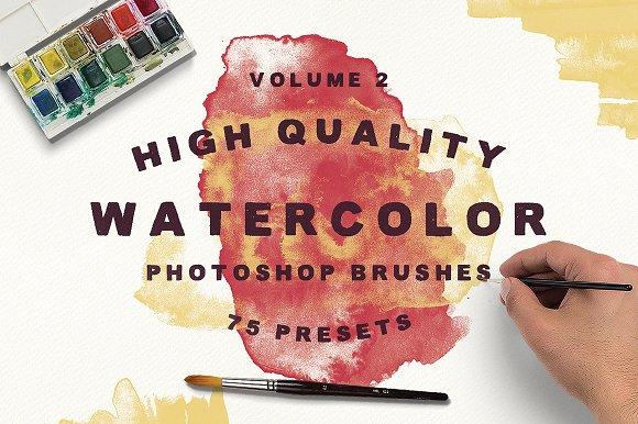 75 Watercolor Brushes - Vol.2 - Brushes