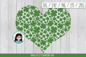 St. Patrick heart SVG DXF