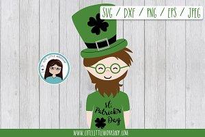 St. Patrick boy SVG DXF