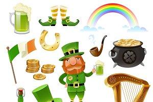 Saint Patrick Day elements set