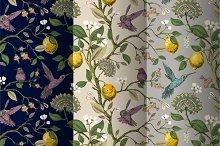 3 Botanical Vintage Patterns