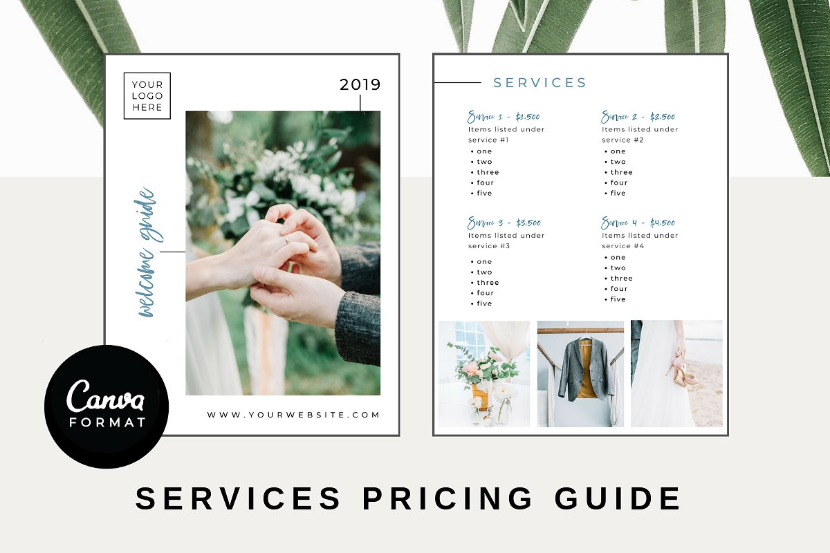 Pricing Guide Template - CANVA ~ Other Presentation Software