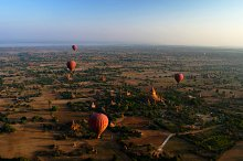 Ballooning in the dawn over Bagan, M by  in Architecture