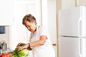 grandmother in kitchen