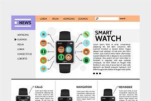 Modern technology website template