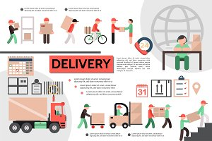 Flat courier service template