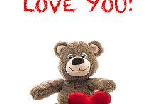 Teddy bear red heart Valentines Day
