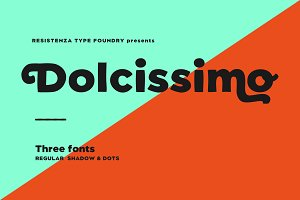 Dolcissimo 3 Fonts 50% OFF