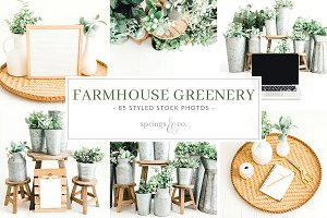 Farmhouse Greenery Huge Photo Bundle