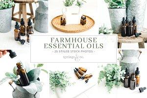 Farmhouse Essential Oil Stock Photos